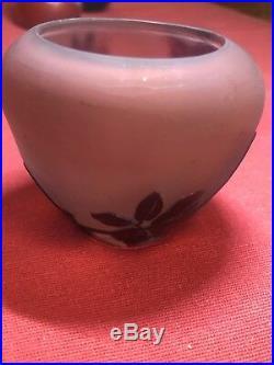 Emile Gallé Vase Boule Miniature Art Nouveau Hauteur 6 CM