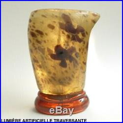 Emile Gallé Vase miniature Marqueterie de verre Japonisme vers 1900