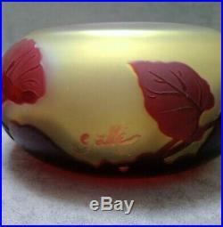 Émile Gallé coupe Art Nouveau volubilis vase