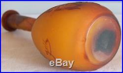 Emile Gallé vase pate de verre dégagé à l'acide authentique
