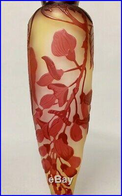 Emile gallé Vase Art Nouveau En Verre Multicouche Vers 1900