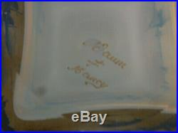 Encrier signé DAUM Nancy à décor lacustre et mouilins