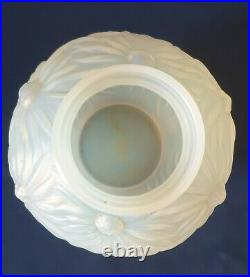 Etling, joli vase en verre opalescent Les Tournesols