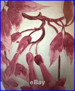 Exceptionnel Vase Legras Fleurs Série Ruby 50 Cm