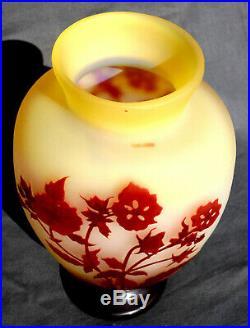Exceptionnel en qualité, vase Galle fleurs des champs, era daum 1900, NO COPY