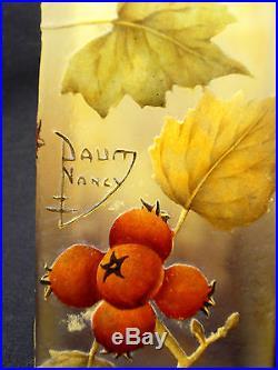 Exceptionnel vase à pans carre Daum, pomme d'api, parfait, era galle, No copy