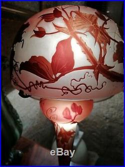 Exceptionnelle Lampe Emile Galle Art Nouveau