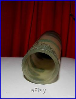 GRAND VASE AUTHENTIQUE LEGRAS DECOR PASAGE DEGAGE ACIDE SIGNE 35 cm