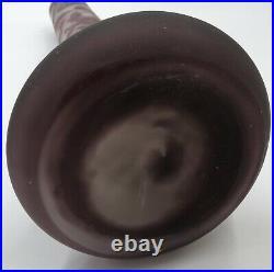 GRAND Vase Glycine EMILE GALLE Etoile 44cm! Art-Nouveau (pâte de verre.)