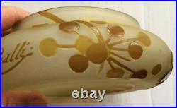 Galle émile richard muller devez legras Daum Lalique cameo multicouche rare