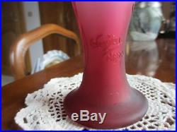 Grand Vase Degage A L'acide Signe C. Vessiere