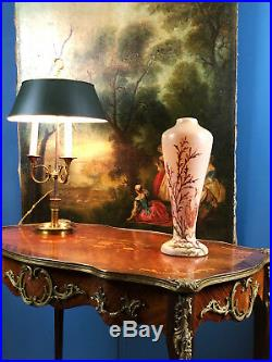 Grand Vase En Pte De Verre À Décor De Coraux Signé Legras 40 CM