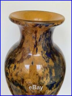 Grand Vase Epoque Art Deco 1930 Signee A. Delatte Nancy