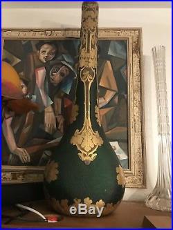 Grand Vase Legras Monjoye Art Nouveau Signé 60 Cm