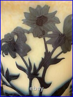 Grand Vase Par André Delatte, Nancy.'chrysanthèmes' Vers 1920