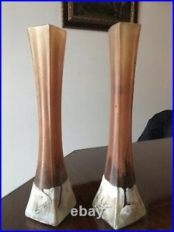 Grand Vase signé LEGRAS Art Nouveau