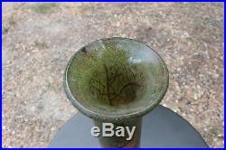 Grand vase Soliflore 41 cm en verre émaillé LEGRAS