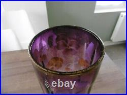 Grand vase ancien émaillé Legras hauteur 39 cm