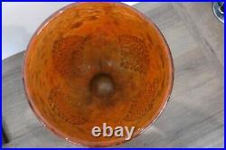 Grand vase coupe signé DAUM NANCY inclusion d'or