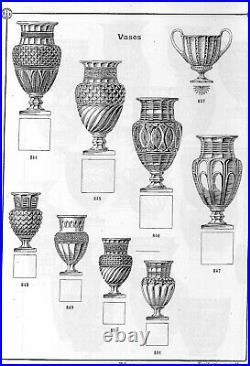 Grand vase de style Empire CRISTAL DE BACCARAT forme balustre époque XIXe siècle