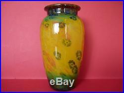 Grand vase en pâte de verre signé muller frères luneville