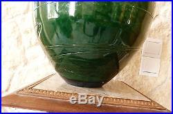 Grand vase ovoïde JEAN CLAUDE NOVARO en verre soufflé signé et daté 1996 ref 583