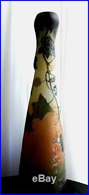 Grand vase signé legras