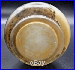J. MICHEL PARIS-Vase vers 1900 dégagé à l'acide et émaillée, daum, gallé, schneider
