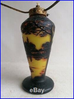 J. Michel Paris Lampe Vase Pte De Verre Art Nouveau Art Déco No Galle, Daum