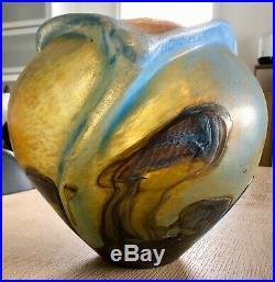 Jean Claude NOVARO (1943 2015) Important vase en verre soufflé