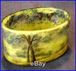 Joli et rare vase miniature Daum, arbre en été, parfait, era Galle 1900