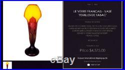 Joli grand Vase Schneider le verre francais, 40 cm, parfait, era daum Gallé 192