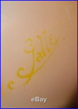 Joli gros vase Gallé à décor de capucines, 28 cm, era daum, NO COPY