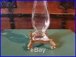 Jolie Grand Vase Cristal De Baccarat Monture Bronze Forme Japonisante