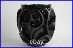 LALIQUE Grand vase Tourbillons noir (48679)