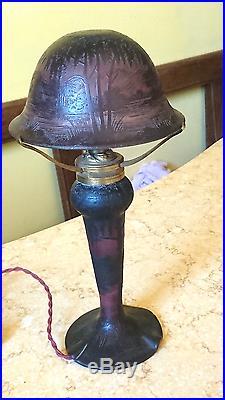 Lampe Champignon Richard En Pate De Verre