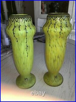 LEGRAS, paire de vases Balustre