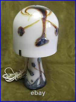 Lampe Verre Biot Michèle LUZORO (French art glass lamp)