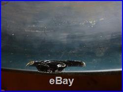Lampe champignon en verre multicouche signé Gallé pate de verre Gallé
