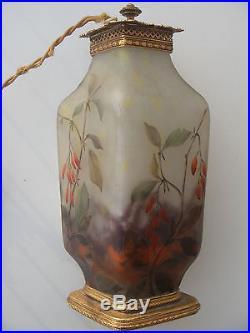 Lampe veilleuse art nouveau Daum Nancy début 1900