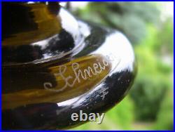 Le Verre Français Superbe coupe sur pied de grand diamètre vase signé Schneider