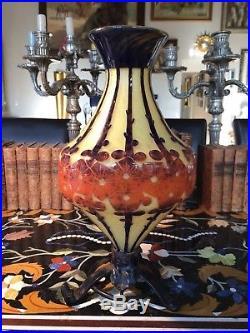 Le Verre Francais Vase Mirettes Vers 1922-1925