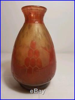 Le Verre Français Vase TORTUE signé au berlingot 1919 1921 charder, schneider