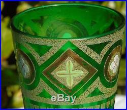 Legras Belle paire de vases en verre émaillé. Circa 1900. Haut. 36 cm