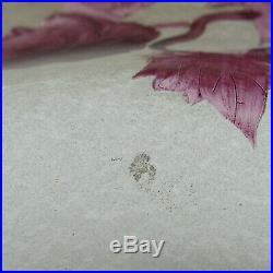 Legras. Coupe en verre gravé à l'acide à décor d'églantines sur fond givré, XXe