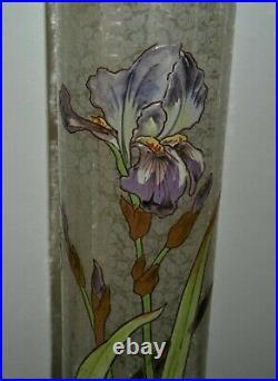 Legras Montjoye Saint DenisVase émaillé d'époque nouveau décor irisEtat sup