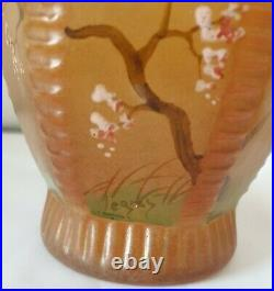 Legras, paire de vases à décor de cerisiers du Japon