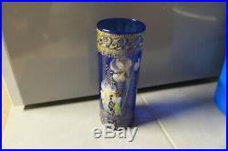 Legras vase emaillé decor de fleurs iris