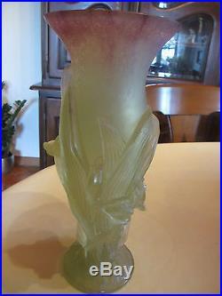Magnifique Vase Signe Daum France