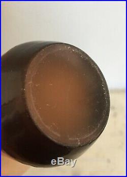 MAGNIFIQUE flacon à parfum vaporisateur atomiseur EMILE GALLE Verre camé déb XXe